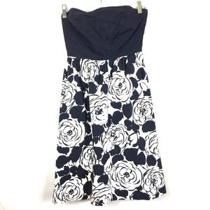 - Antho Deletta Strapless Floral Dress Blue …